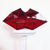 Для дома и интерьера ручной работы. Ярмарка Мастеров - ручная работа Красные губы, витраж Тиффани. Handmade.