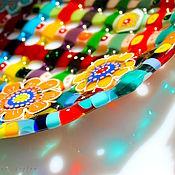 """Посуда ручной работы. Ярмарка Мастеров - ручная работа тарелочка """"праздник"""" фьюзинг. Handmade."""