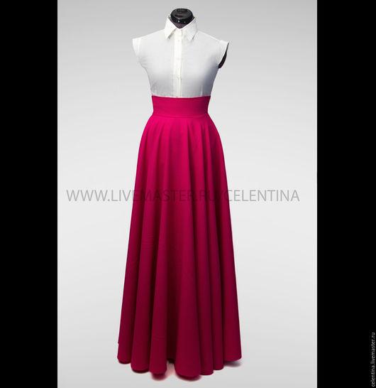 Юбка в пол, длинная юбка, юбка макси, пышная юбка, юбка из габардина, юбка со складками, юбка солнце, юбка длинная в пол, длинная юбка, макси юбки, черная юбка, бордовая юбка , модная юбка