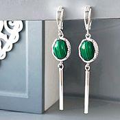 Украшения handmade. Livemaster - original item Long earring English lock earrings hanging green. Handmade.