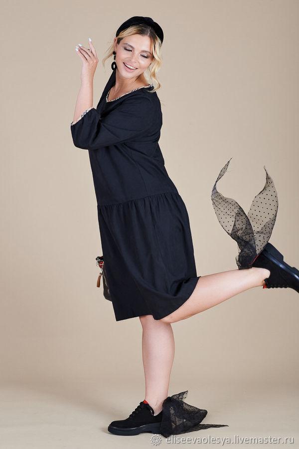 Платье на осень с воланом  47810, Платья, Новосибирск, Фото №1