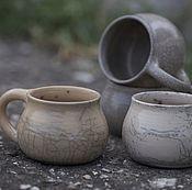 """Посуда ручной работы. Ярмарка Мастеров - ручная работа Кружки """"Морской песок"""". Раку керамика.. Handmade."""