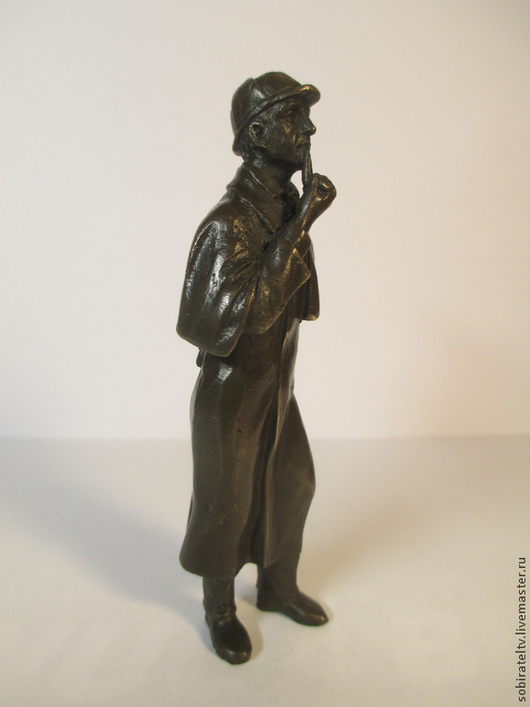 """Статуэтки ручной работы. Ярмарка Мастеров - ручная работа. Купить Статуэтка """"Шерлок Холмс"""". Бронза.. Handmade. Коричневый, бронзовая статуэтка"""