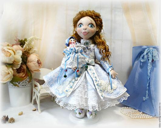 Коллекционные куклы ручной работы. Ярмарка Мастеров - ручная работа. Купить Эмма. Авторская кукла. Handmade. Голубой, принцесса, золушка