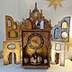"""Часы для дома ручной работы. Ярмарка Мастеров - ручная работа. Купить Часы """"Индия"""". Handmade. Бежевый, подарок, декоративные элементы"""