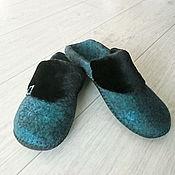 Обувь ручной работы handmade. Livemaster - original item Felted women`s Slippers.. Handmade.