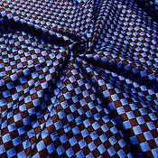 Материалы для творчества ручной работы. Ярмарка Мастеров - ручная работа Американский хлопок. Синие квадратики. Handmade.