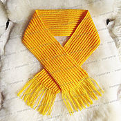Аксессуары handmade. Livemaster - original item Yellow knitted scarf (No. №621). Handmade.