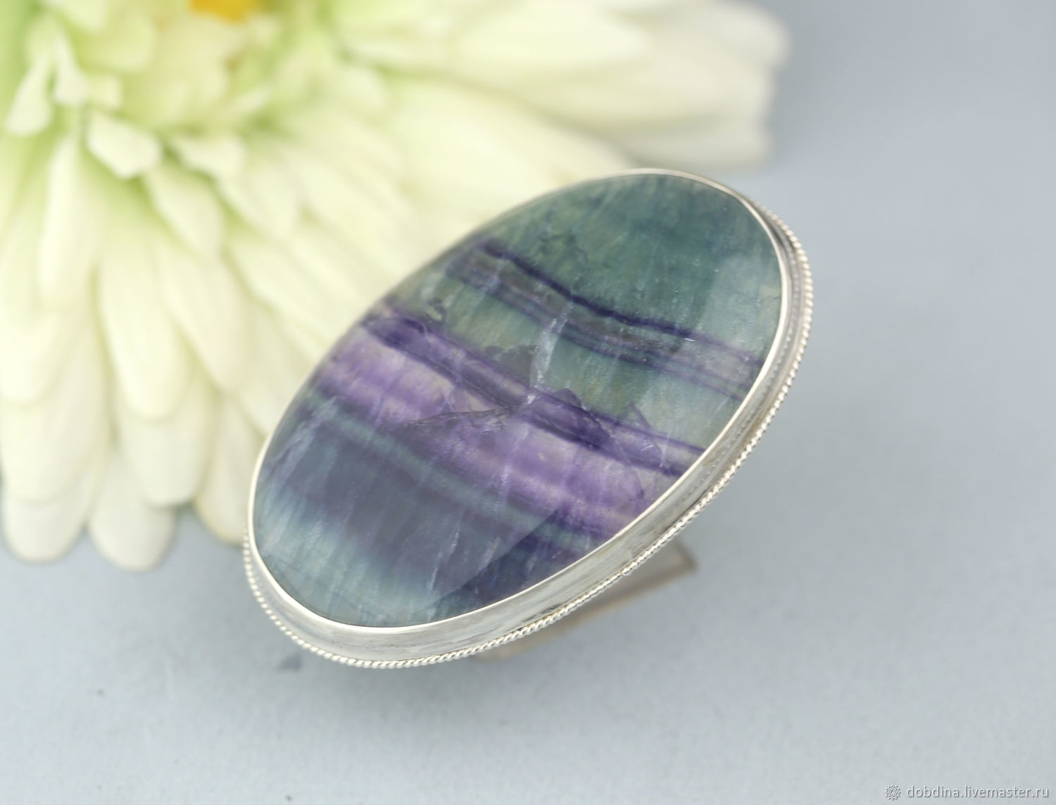 ring with fluorite. Silver, Rings, Moscow,  Фото №1
