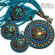 set of polymer clay turquoise gold filigree (226). Jewelry Sets. Svetlana Parenkova (parenkova). Online shopping on My Livemaster.  Фото №2