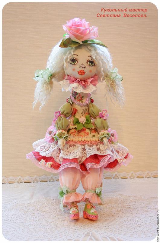 Коллекционные куклы ручной работы. Ярмарка Мастеров - ручная работа. Купить авторская будуарная кукла РОЗАЛИЯ. Handmade. Розовый