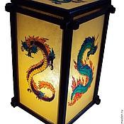Для дома и интерьера handmade. Livemaster - original item Lamp stained glass Dragons. Handmade.