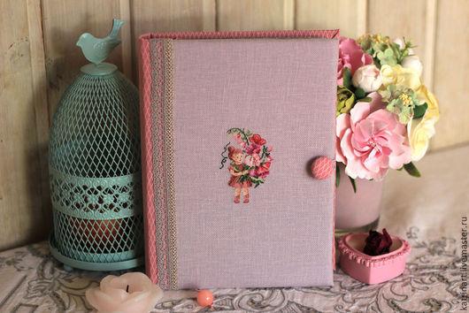 """Блокноты ручной работы. Ярмарка Мастеров - ручная работа. Купить Блокнот ручной работы """"Девичий"""". Handmade. Розовый, блокнот для девушки"""