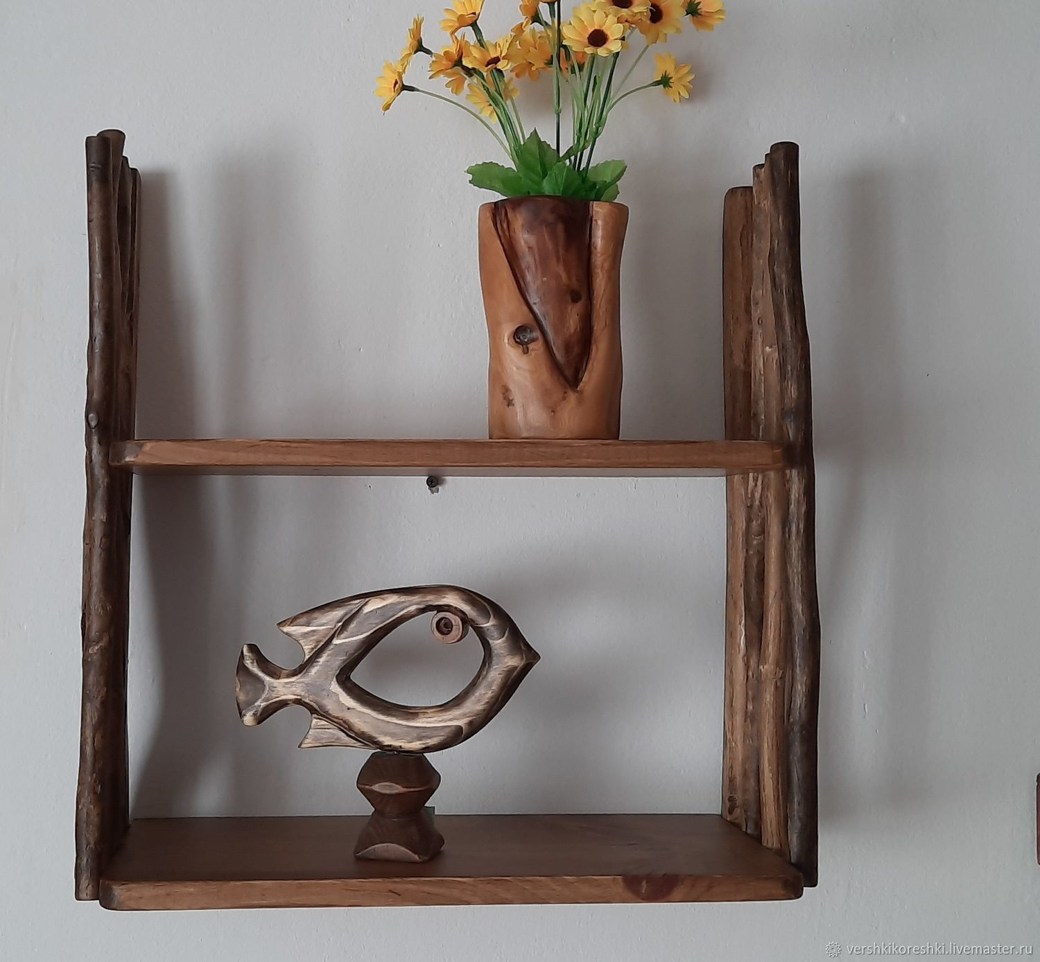 Shelf mounted in country style, Shelves, Chernomorskoe,  Фото №1