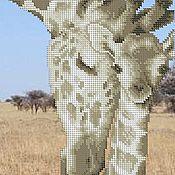 Материалы для творчества ручной работы. Ярмарка Мастеров - ручная работа Жирафы. Схема для вышивки бисером.. Handmade.