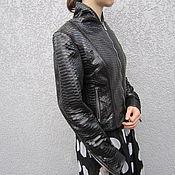 Одежда ручной работы. Ярмарка Мастеров - ручная работа Куртка из натуральной кожи питона. Handmade.