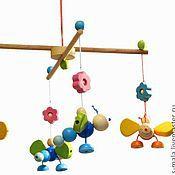 Мягкие игрушки ручной работы. Ярмарка Мастеров - ручная работа БАБОЧКИ. Мобиль для детской кроватки. Handmade.