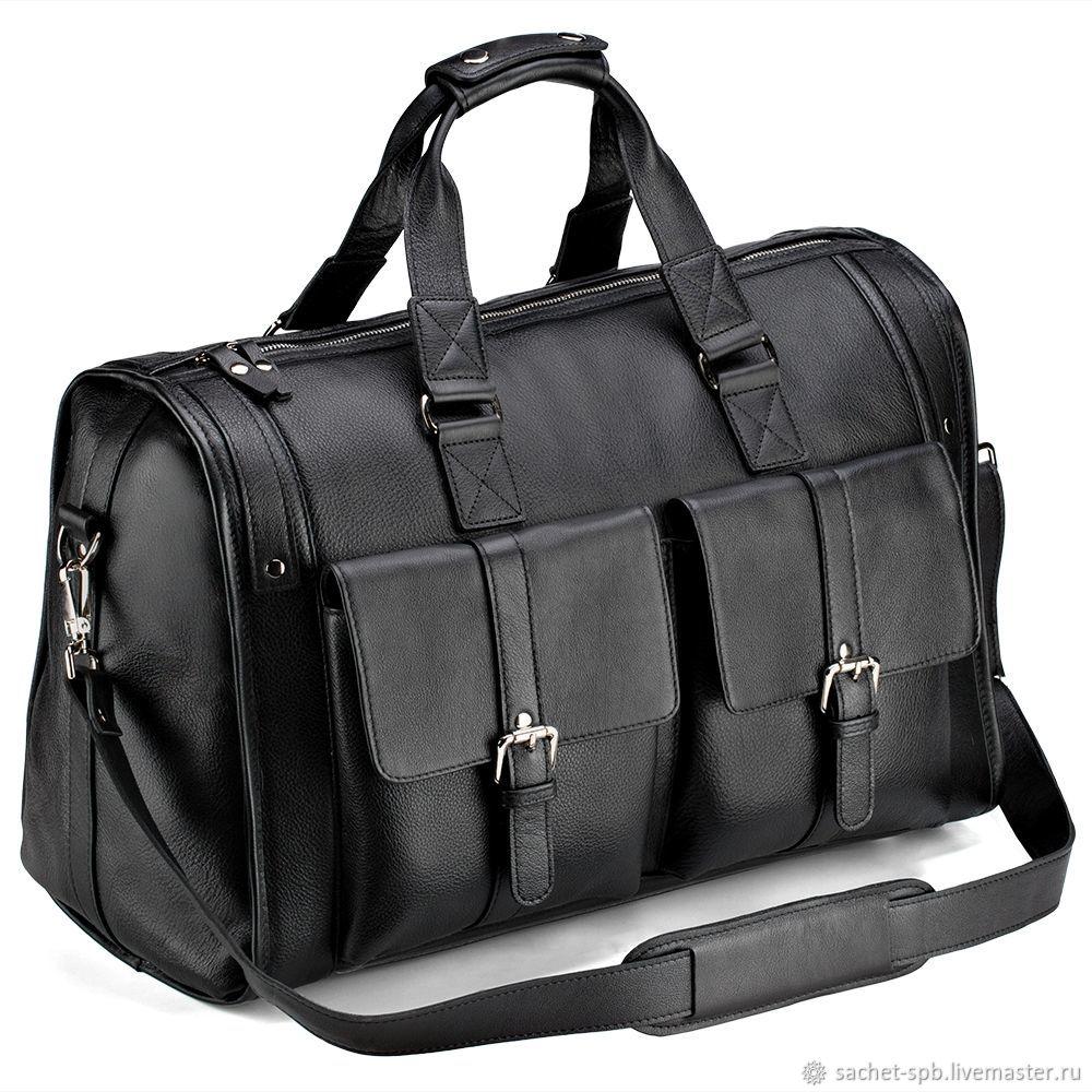 52d69d11506d Кожинка · Мужские сумки ручной работы. Кожаная дорожная сумка 'Балтимор' ( чёрная). Кожинка ...