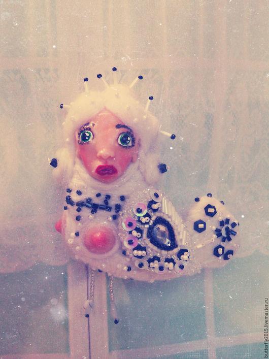 Коллекционные куклы ручной работы. Ярмарка Мастеров - ручная работа. Купить райская птица Сирин   (авторская брошь, оберег). Handmade.