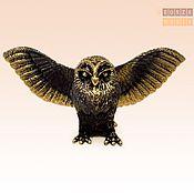 Модели ручной работы. Ярмарка Мастеров - ручная работа фигурка Птица Сова расправила крылья. Handmade.