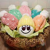 Наборы ручной работы. Ярмарка Мастеров - ручная работа Шапочки для пасхальных яиц. Пасхальный набор.. Handmade.
