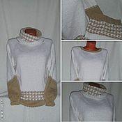 Одежда ручной работы. Ярмарка Мастеров - ручная работа Джемпер с шарфом-петлей. Handmade.