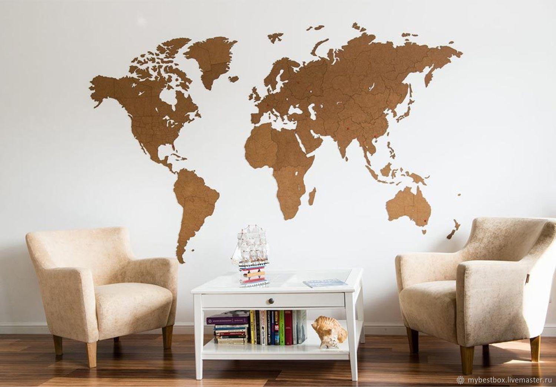 World Map Wall Decoration Giant Brown 280h170 Cm Kupit Na Yarmarke Masterov Glr2zcom Karty Mira Moscow