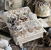 Канцелярские товары handmade. Livemaster - original item Recipe book vintage beige lace flowers aroma. Handmade.