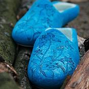 """Обувь ручной работы. Ярмарка Мастеров - ручная работа Валяные тапочки """"Бесконечность"""". Handmade."""
