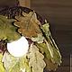 Светильник `Осенний дуб`. Ажурная керамика и цветы в керамике Елены Зайченко