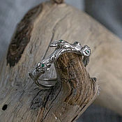 Украшения handmade. Livemaster - original item Golden ring with emeralds