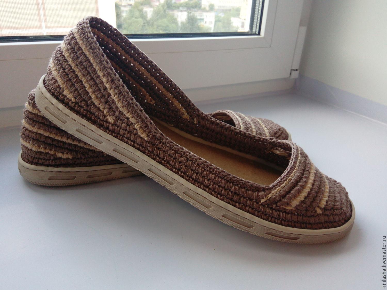 Обувь ручной работы. Ярмарка Мастеров - ручная работа. Купить Туфельки женские летние. Handmade. Коричневый, женская летняя обувь