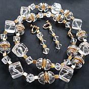 Винтаж handmade. Livemaster - original item Napier necklace and clips (earrings), American vintage. Handmade.