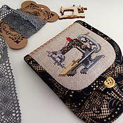 Сумки и аксессуары handmade. Livemaster - original item Case for scissors cross stitch. Handmade.