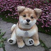 Куклы и игрушки ручной работы. Ярмарка Мастеров - ручная работа Шиба ину щенок. Handmade.