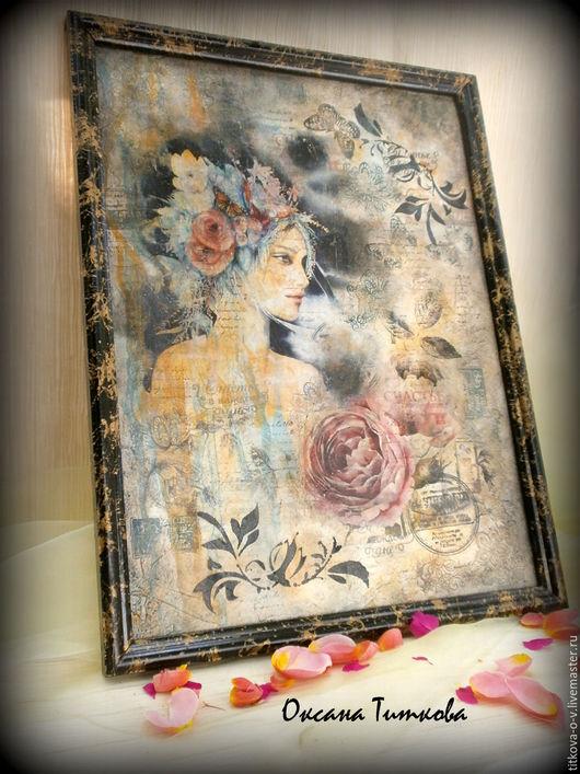 """Картины цветов ручной работы. Ярмарка Мастеров - ручная работа. Купить Картина-панно""""Аромат цветов"""". Handmade. Комбинированный, Картины и панно"""