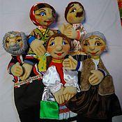 Куклы и игрушки handmade. Livemaster - original item Family glove puppet. glove puppets.. Handmade.