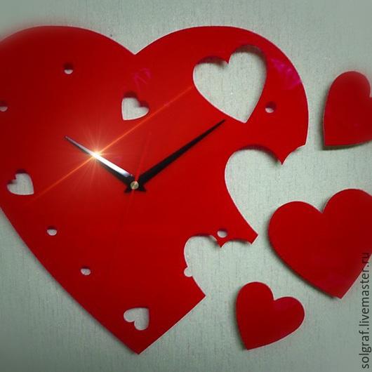 Часы для дома ручной работы. Ярмарка Мастеров - ручная работа. Купить Сердце. Handmade. Часы настенные, оригинальные часы