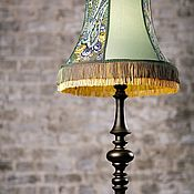 handmade. Livemaster - original item Wooden floor lamp FLINT with lampshade. Handmade.