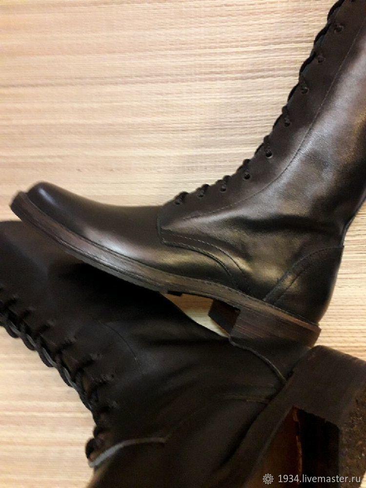 Обувь ручной работы. Ярмарка Мастеров - ручная работа. Купить Сапоги Military -69. Handmade. Демисезонная обувь, Обувь из кожи