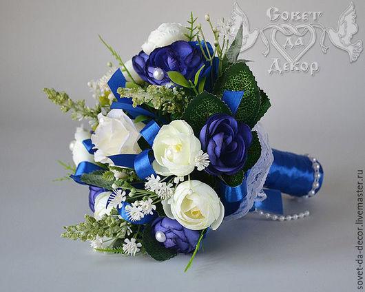 """Свадебные цветы ручной работы. Ярмарка Мастеров - ручная работа. Купить Букет-дублёр """"Синий"""". Handmade. Букет, свадебные цветы"""