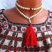 Фен-шуй и эзотерика handmade. Livemaster - original item Rosary of sandalwood white 2. Handmade.