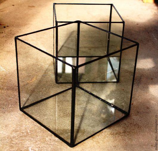 Подсвечники ручной работы. Ярмарка Мастеров - ручная работа. Купить Куб стеклянный. Витражный.. Handmade. Стекло, подсвечник из стекла, стекло
