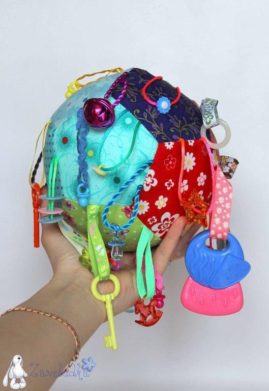 Развивающие игрушки ручной работы. Ярмарка Мастеров - ручная работа. Купить Развивающий мячик. Handmade. Развивающий мячик, мячик, грызунки