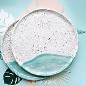 Посуда ручной работы. Ярмарка Мастеров - ручная работа Тарелка Воздух и Море. Handmade.