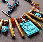 Украшения handmade. Livemaster - original item Dream of the Shaman. Bright necklace with natural stones in ethno styl. Handmade.