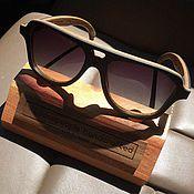 Аксессуары ручной работы. Ярмарка Мастеров - ручная работа Деревянные солнцезащитные очки модель BLACK STAR. Handmade.