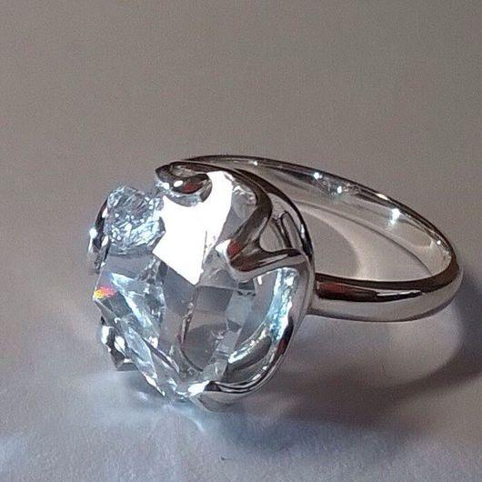 Кольца ручной работы. Ярмарка Мастеров - ручная работа. Купить Кольцо с алмазом херкимера в серебре. Handmade. Ручная работа