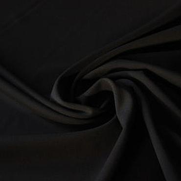 Материалы для творчества ручной работы. Ярмарка Мастеров - ручная работа 130501 итальянская ткань трикотаж черный джерси. Handmade.