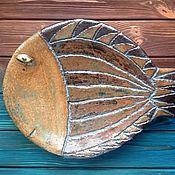 """Посуда ручной работы. Ярмарка Мастеров - ручная работа Керамическое блюдо для фруктов/печенья """"Рыба моей мечты"""". Handmade."""